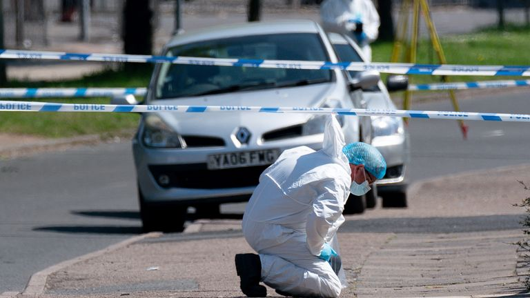 The 14-year-old was stabbed at around 7:30pm on Bank Holiday Monday