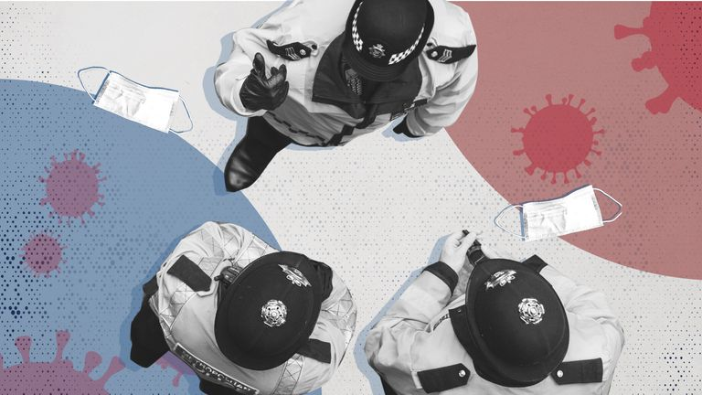 Nearly half of UK police forces failed to say how many officers have breached COVID restrictions