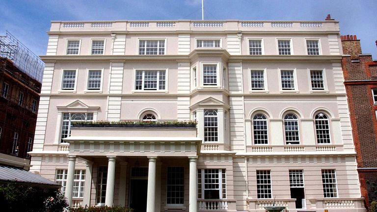 Clarence House, Prince Charles' official residence, is located next to St James' Palace