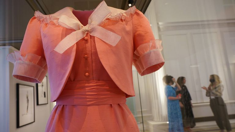A dress and jacket worn by Diana, Princess of Wales, by David Sassoon, Bellville Sassoon, which is also going on display