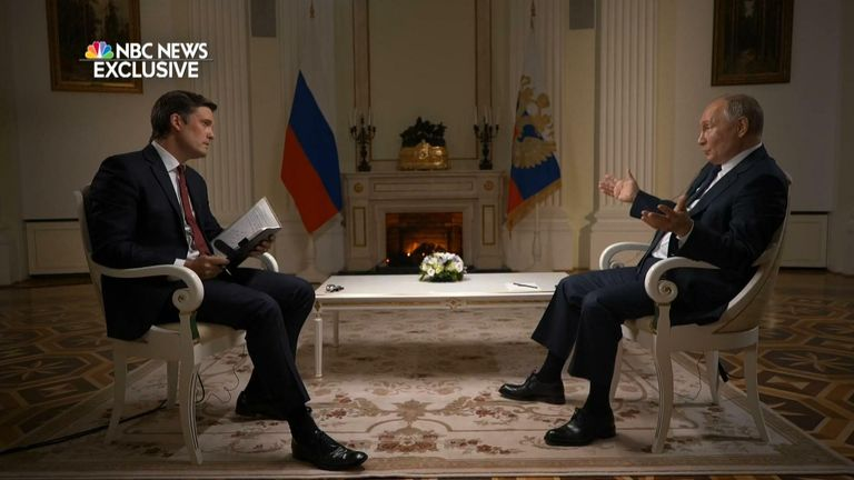 President Putin of Russia is asked if he's a killer by NBC's Keir Simmons