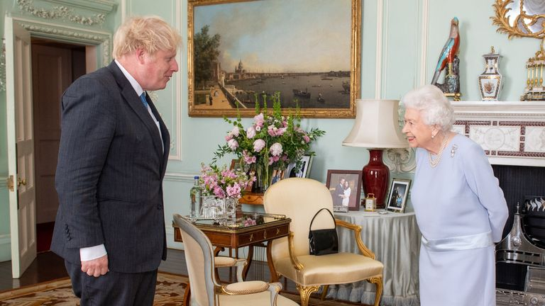 The Queen held her audience with the PM for the first time since the pandemic began