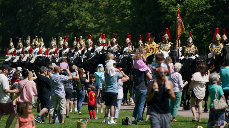 Despite the move to Windsor in order to limit numbers, many spectators still came to view the event