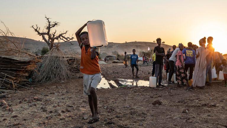 Umm Rakouba refugee camp in Qadarif, eastern Sudan. Pic: AP