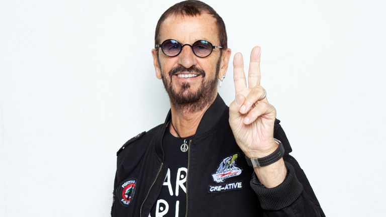 Ringo Starr poses for a portrait at the Sunset Marquis in Los Angeles in 2019. Pic: Rebecca Cabage/Invision/AP