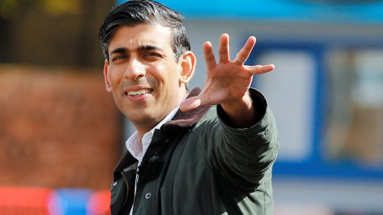 Chancellor of the Exchequer Rishi Sunak during a visit to the Marine Holiday Park in Rhyl, Denbighshire, as part of the Welsh Conservative Party's Senedd election campaign. Picture date: Wednesday May 5, 2021.