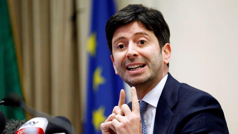 Italian health minister  Roberto Speranza