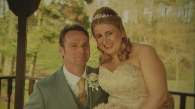 Amanda Rogers lost her husband Adrian to cancer almost a year after his surgery was cancelled due to COVID-19.