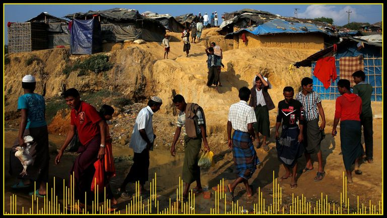 Thousands of Rohingya people travelled to the Kutupalong refugee camp