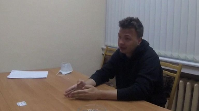 Belarus airs questioning of Roman Protasevich detained after forced plane landing