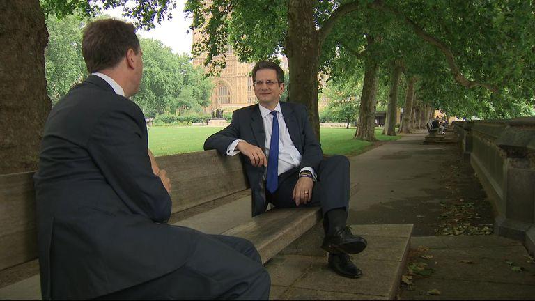 Sky's deputy political editor Sam Coates interviews Steve Baker MP