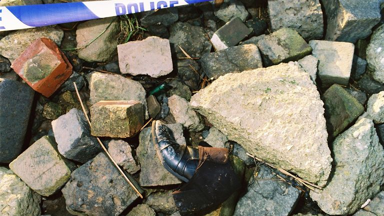 A boot from the scene where Samantha Allen's body was found. Pic: Humberside Police