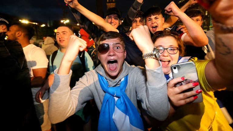 Scotland fans celebrated the result despite their side failing to find the back of the net