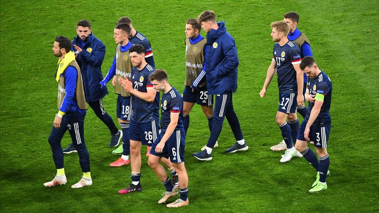 Scotland's team thanked the fans who had supported them