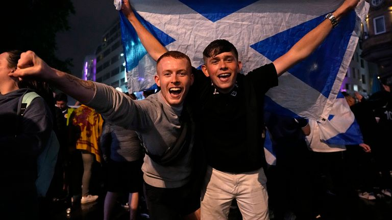 Scotland fans travelled down to London for the match. Credit: Rene Wolter