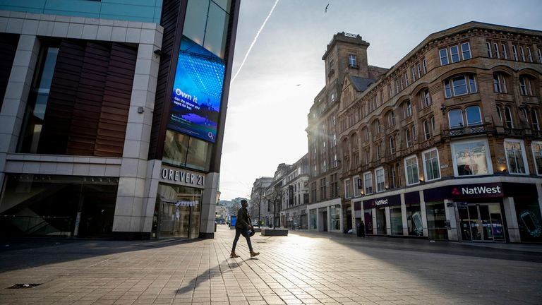 Shops closed in Liverpool on 24 March 2020 - the day after Boris Johnson announced the first COVID lockdown