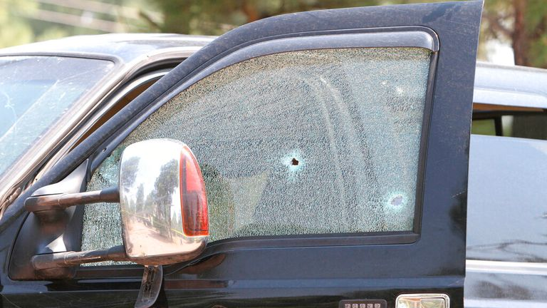 Police shot the suspect after he fled the scene. Pic: AP
