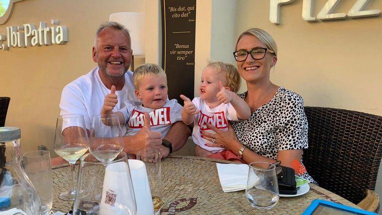 Simon Smith and his family