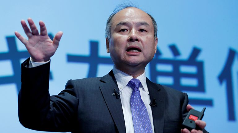 Japan's SoftBank Group Corp Chief Executive Masayoshi Son attends a news conference in Tokyo, Japan, November 5, 2018