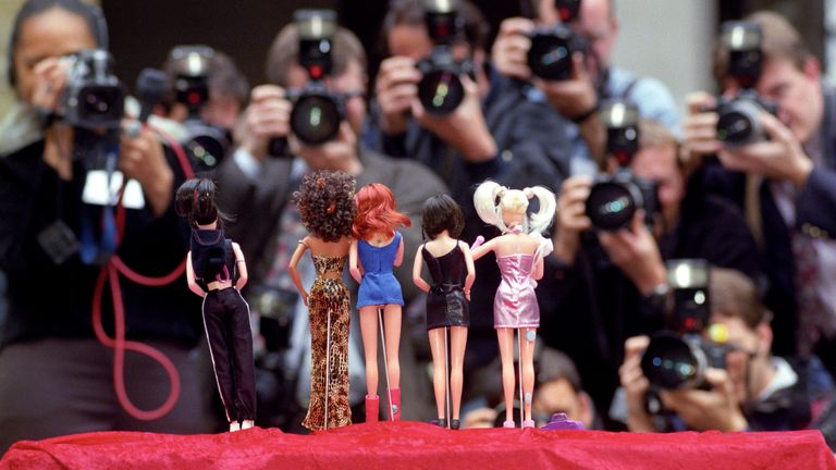 Attracting almost as much media attention as the real thing, the Spice Girls dolls are launched at the British Association of Toy Retailers Fair in London in October 1997
