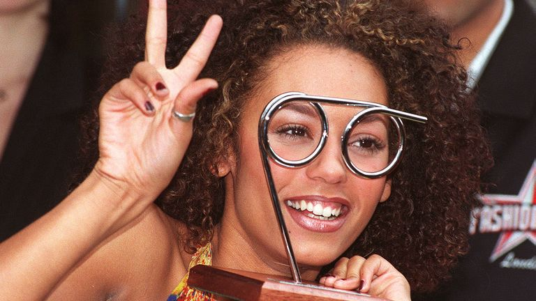 The Spice Girls' Scary Spice Mel B was named female spectacle wearer of the year in 1997