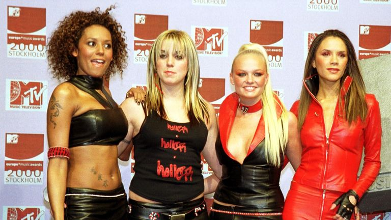 The Spice Girls at the MTV Europe Music Awards in November 2000