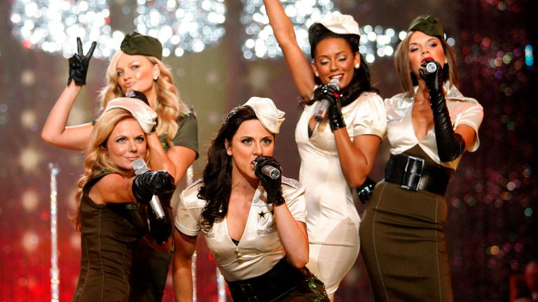 The Spice Girls perform at the Victoria's Secret Fashion Show in November 2007 in Hollywood