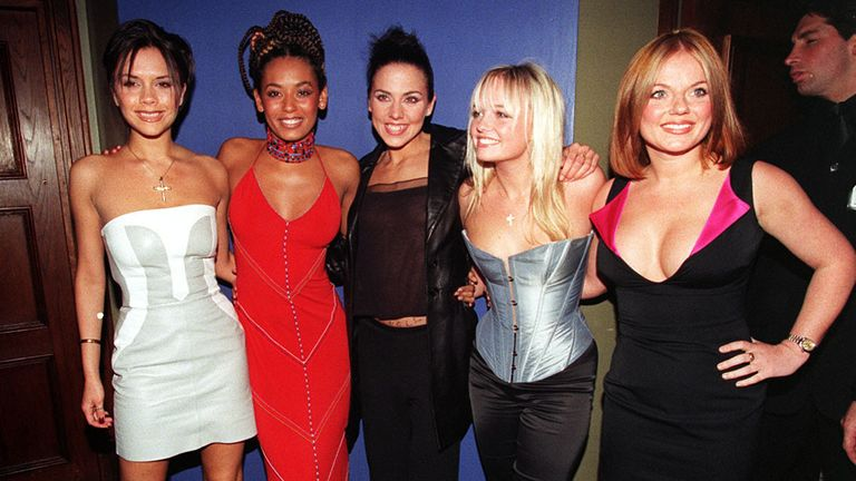 The Spice Girls at their after party following their first of eight shows at Wembley Arena in April 1998
