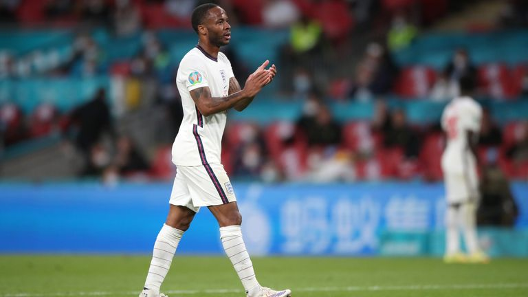 Sterling has scored England's only two goals at the tournament