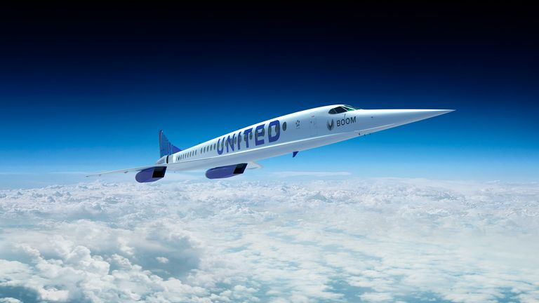 The 88-seat plane aims to be the first supersonic airliner to have zero carbon emissions. Pic: AP