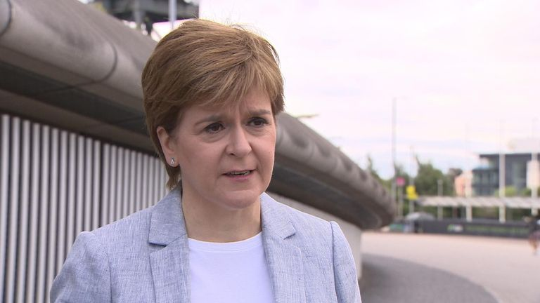 First Minister of Scotland Nicola Sturgeon and Greater Manchester mayor Andy Burnham have clashed over Manchester-Scotland travel.