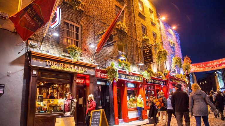 Ireland 2018: Impressions Ireland - February - 2018 Dublin Temple Bar | usage worldwide Photo by: Fotostand / Dostmann/picture-alliance/dpa/AP Images