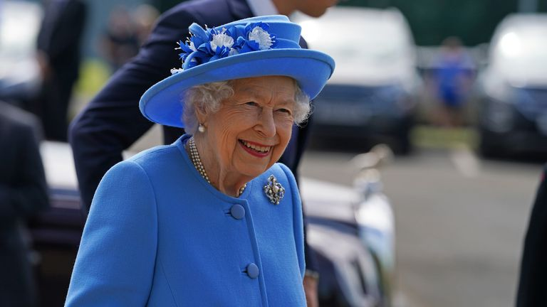 It was the Queen's first trip to Scotland since her husband died