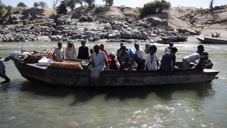 After violence broke out in November, Ethiopians fled the Tigray region to neighbouring Sudan