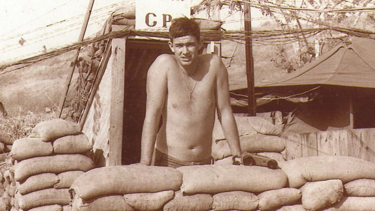 Tony Dell is the only Test cricketer to have fought in the Vietnam war. Pic: Tony Dell