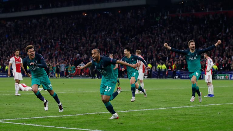 Tottenham made it to the Champions League final on away goals in 2019 despite drawing with Ajax across two legs