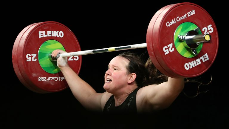 At 43, Laurel Hubbard is not only the first trans athlete to compete in the Olympics but also the oldest weightlifter at this year's games. Pics AP