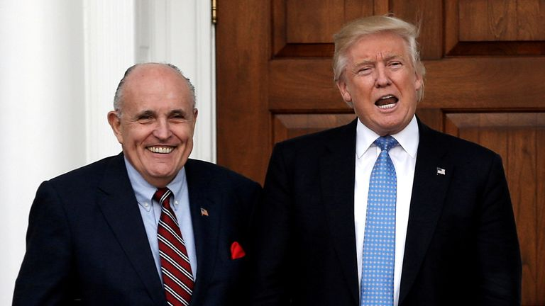 Mr Giuliani and Mr Trump worked to overturn the election