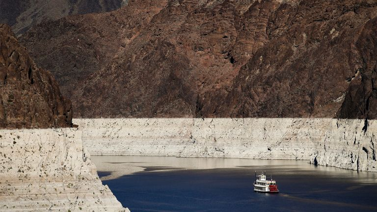 Lake Mead on the Colorado River supplies 25 million people with water in the southwestern states and Mexico. Pic AP