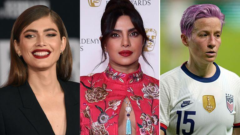 Victoria's Secret has announced its VS Collective ambassadors, including Valentina Sampaio, Priyanka Chopra and Megan Rapinoe. Pic: AP
