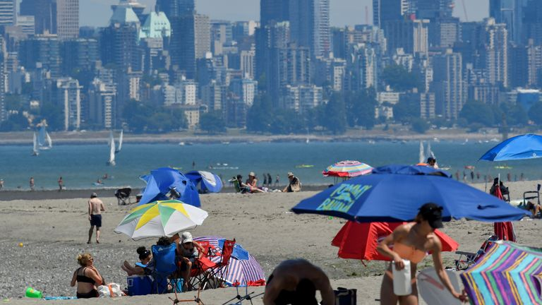 A beach in Vancouver, British Columbia