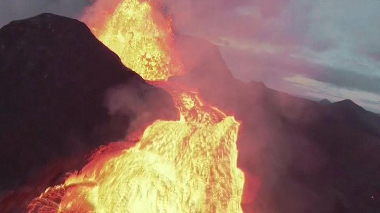 Drone crashes into erupting Icelandic volcano Fagradalsfjall