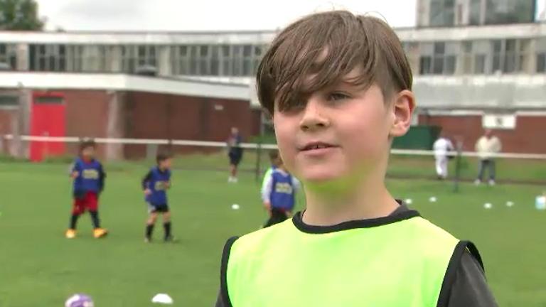 Eight-year-old Joe Houlihan