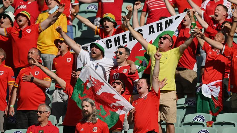 Wales fans have made the long trip to Baku - but will have to isolate when they get back