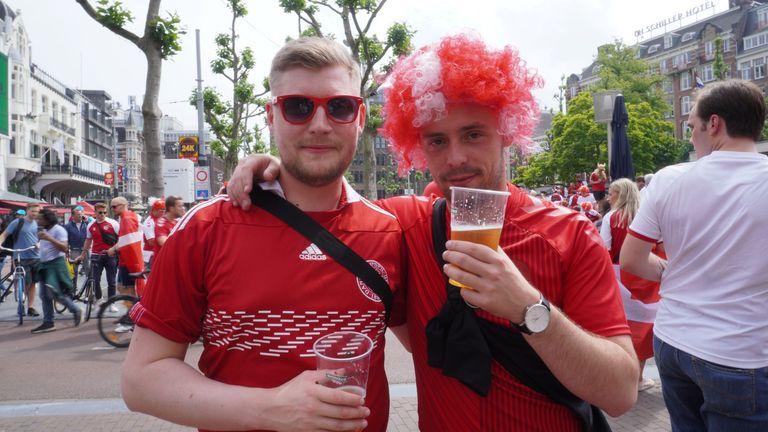 Wales fans in Amsterdam