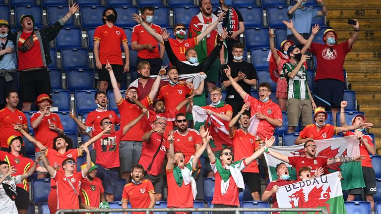 A small number of Wales fans were in the stadium