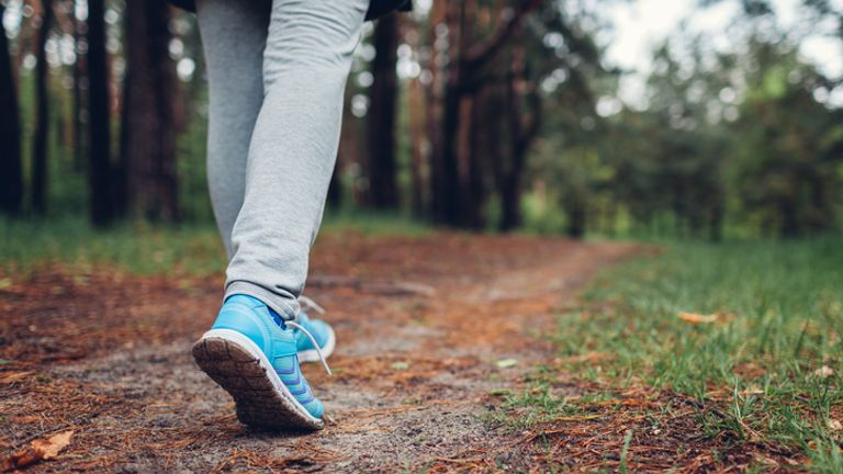 WHO recommends 150 minutes of walking a week or 75 of running. File pic