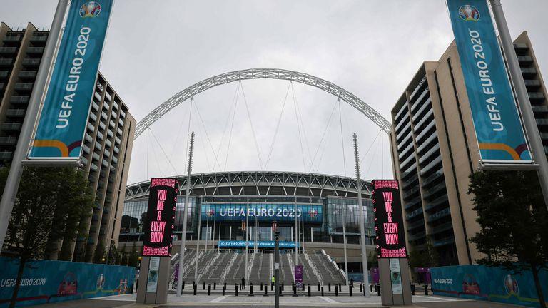 Wembley stadium. Pic: AP