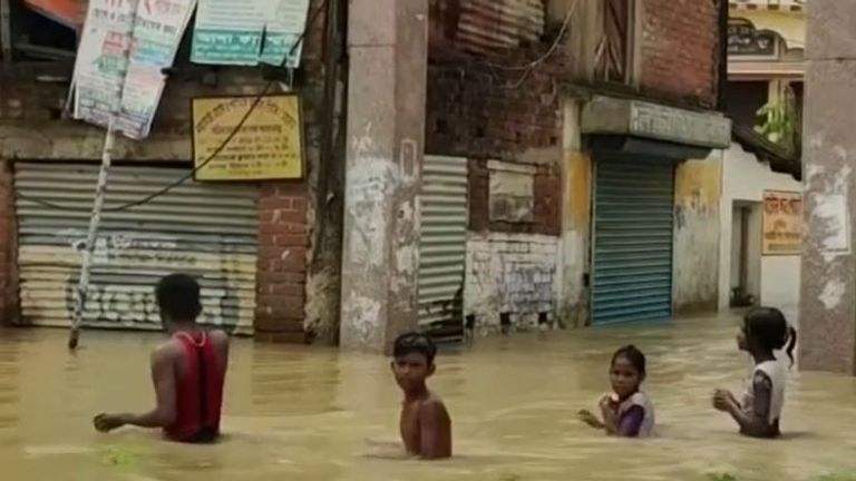 West Bengal is hit by floods
