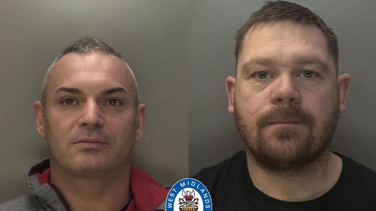 Simon Paggett, left, and Dean Stone were both jailed. Pic: West Midlands Police
